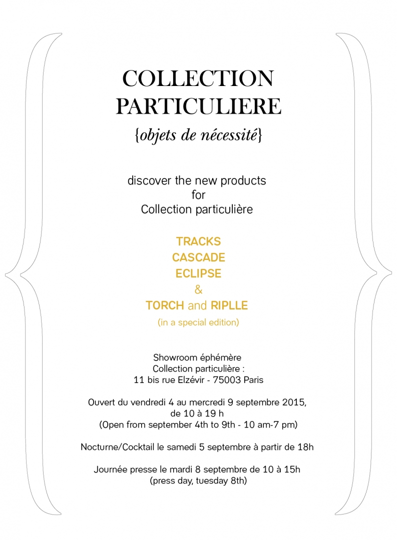 COLLECTION PARTICULIERE 2015